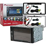 Pioneer Double DIN 2DIN AVH-200EX 6.2 Touchscreen Car stereo MP3 CD DVD player Bluetooth USB with DCO Full License plate Night vision waterproof back-up camera (Optional Color)