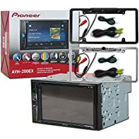 Pioneer Double DIN 2DIN AVH-200EX 6.2' Touchscreen Car stereo MP3 CD DVD player Bluetooth USB with DCO Full License plate Night vision waterproof back-up camera (Optional Color)