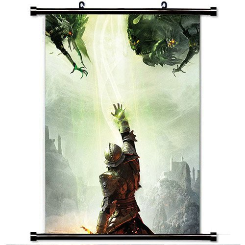 Home Decor Art Hero Games Poster With Dragon Age Inquisition Game Illust Art Electronic Wall Scroll Poster Fabric Painting 23.6 X 35.4 Inch (60cm X 90 cm)