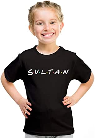 kharbashat Sultan T-Shirt for Girls, Size 30 EU, Black