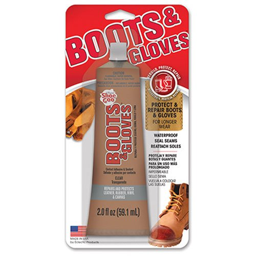2 Ounce Rubber Adhesive - Shoe GOO 110610 Boots and Gloves Adhesive 2 fl oz Clear