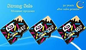 Original 100% Genuine Samsung tarjeta de TF/Micro SD clase 10EVO 16GB 32GB 64GB de memoria microSD, SDHC, SDXC TF tarjeta de 16GB 32GB 64gb-f