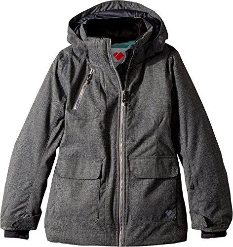 Obermeyer Kids Girl's June Jacket (Little Kids/Big Kids) Light Heather Grey Large by Obermeyer Kids