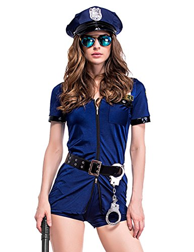 Colorful House Women's Officer Police Uniform Costume (Navy Blue) (Uniform Costumes)
