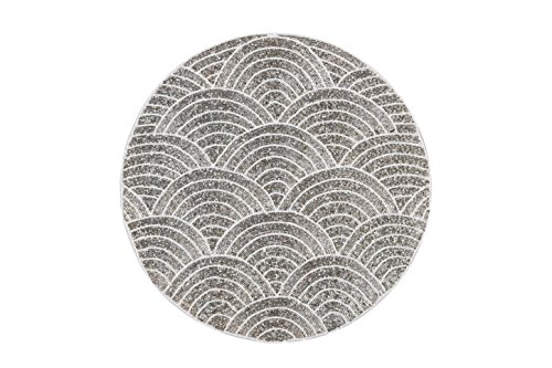 (NOMI K Wave Hand Beaded Placemat (Silver))
