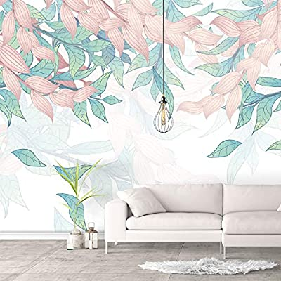 Wall Murals for Bedroom Green Plants Animals Removable Wallpaper Peel and Stick Wall Stickers, Created By a Professional Artist, Unbelievable Composition