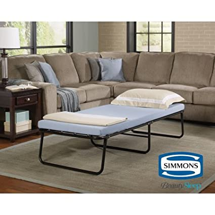 Amazon.com: Simmons Beautysleep Foldaway Guest Bed Cot with Memory