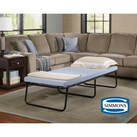 Simmons Beautysleep Foldaway Single Guest Bed Cot with Memory Foam -