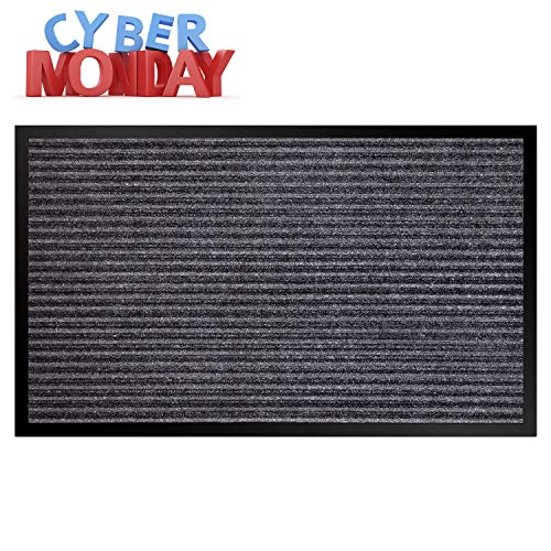 Vdomus Door Mat Shoe Scrapper & Rubber Backing Doormat Indoor Outdoor Entry Way Rug, for High Traffic Areas (Door Mat)