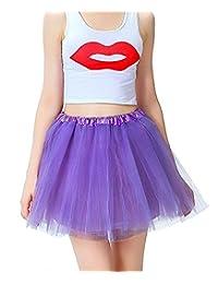 Imixshop Women's 3 Layers Ballet Dress-Up Fairy Tutu Skirt For Dance Party 12 Colors Available (One Size, Purple)