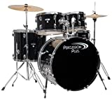 Percussion Plus PP4100BK 5-Piece Drum Set, Black