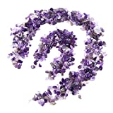 UEETEK Polished Gravel Mixed Color Decorative River Rock Stones for Aquarium(Purple)