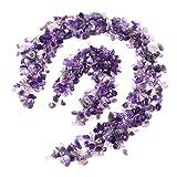 UEETEK Polished Gravel Mixed Color Decorative River Rock Stones for Aquarium(Purple)