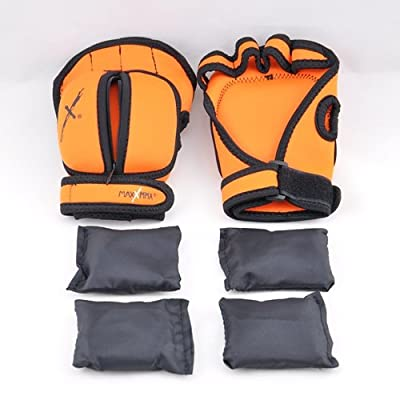 MaxxMMA Adjustable Weighted Gloves - Removable Weight 1 lb. x 2