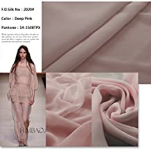F.d.silk Deep Pink 100% Pure Silk Chiffon Fabric By the Yard, 48 Colors, Deep Pink Ch-020