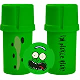 MedTainer Storage Container w/Built-In Grinder - Pickle Rick