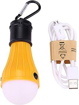 Lámpara LED para Tienda de Campaña Linterna de camping LED USB Recargable, Lámpara de Camping LED Luz Portátil para Deporte al Aire Libre como ...