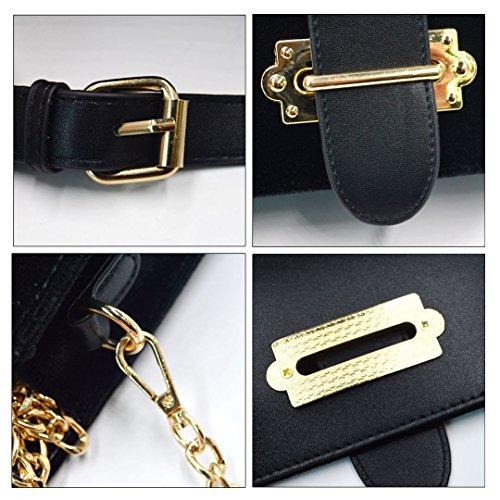 Millya - Bolso mochila  para mujer rojo oscuro negro