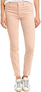 product image for MOTHER Looker Petal Pink Corduroy High-Rise Ankle Skinny Leg