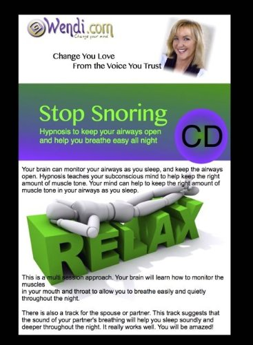 Price comparison product image Stop Snoring with Hypnosis,  Powerful technique that WORKS! With Wendi