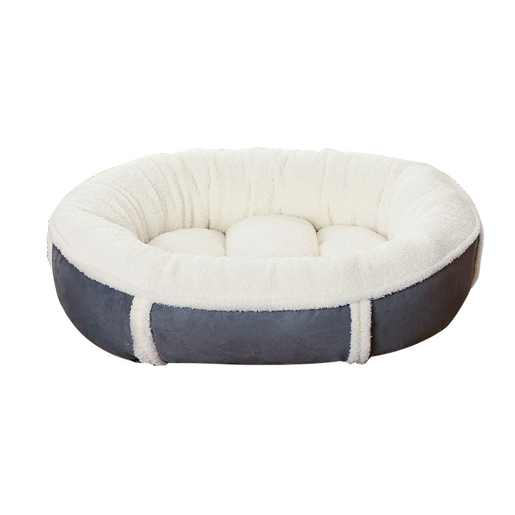 White S 604516cm White S 604516cm C_-1X Kennel, Removable, Dog Mat, Large Medium Dog, Cat Litter, Four Seasons, Pet Nest, Warm, Strong and Breathable, Suitable for Cats(bluee, Coffee, White) (color   White, Size   S 60  45  16cm)