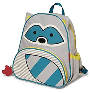 Skip Hop Zoo Toddler Kids Insulated Backpack Riggs Raccoon, 12-inches, Multicolored