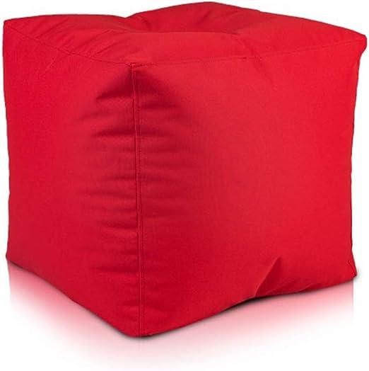 Ecopuf Cube Sitzhocker Hocker Polyestergewebe Outdoor 100% Wasserdicht für außen und innen Sitzbox Würfel Pouf Ottomane Fußbank Zwei Größen