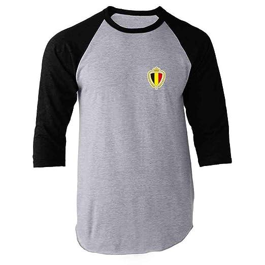 Belgium Soccer Retro National Team Sports Football Black S Raglan Baseball  Tee Shirt fe7f8895f
