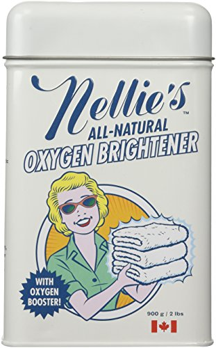 Nellie's All-Natural Oxygen Brightener Powder Tin, 2 Pound - Removes Tough Stains, Dirt and Grime - Stain Removal Silk