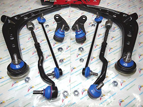 GES PARTS 01-05 BMW E46 325Xi 330Xi New 8PCS Front Control ARMS Ball Joints Tie Rods Sway