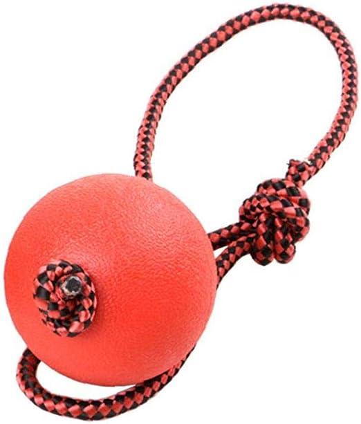 IUwnHceE Perro Mascota Mordedura De Goma Resistente Bouncy Ball Mascota Juguetes Molar con La Cuerda del Entrenamiento del Perro Bola De Goma Agarre De La Pelota Maciza Estiramiento Bola M: Amazon.es: Productos