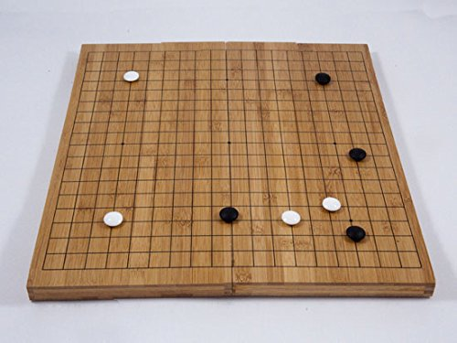 Go-Spiel: Bambus-Klappbrett, 19x19, 20mm, dunkel mit gedruckten Linien