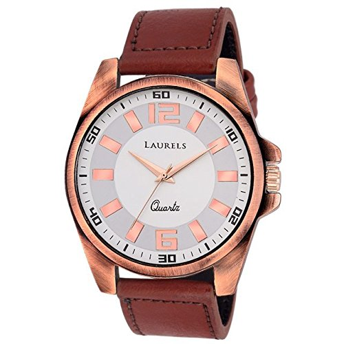 Laurels Gatsby Analog White Dial Mens Watch – Lo-GT-201C