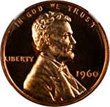 1960 SMALL DATE Gem Proof Lincoln Memorial Cent Penny Proof US Mint