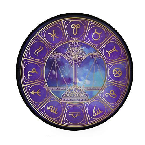 JOSENI Home Decor Light Round Area Rug,Libra Weigher Zodiac Sign Astrological Horoscope,Super Soft Circle Carpet (5'Diameter)