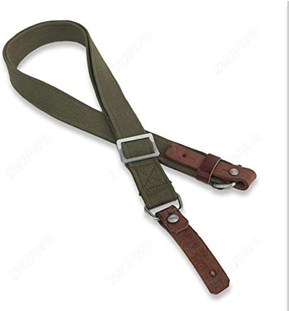 Original WW2 Chinese Army Type 56 Canvas Strap With Two Leather Ending