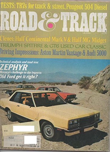 Road And Track Magazine September 1977