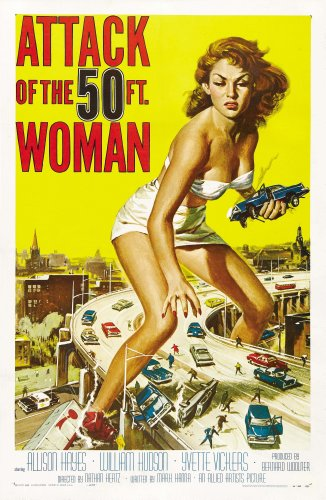 Attack of the 50 Foot Woman  Movie Poster 24x36 inches