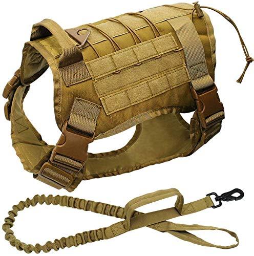 Dufeng Perro táctica Militar arnés K9 de Trabajo del Chaleco del ...