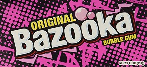 Bazooka Original Bubble Gum (4.oz) 3 Pack by (Bubblegum Bazooka)