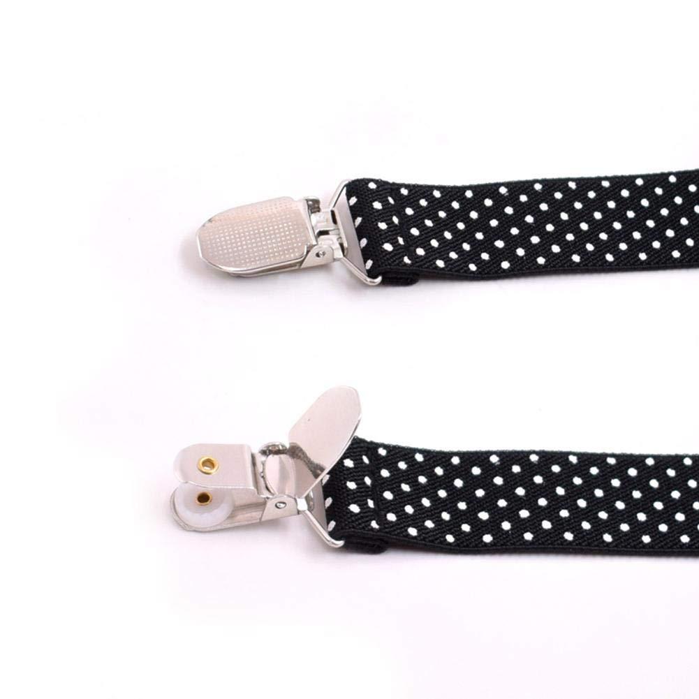 Keruite Boys Suspenders and Bow Tie Set Adjustable Y-Back Tuxedo Suspender Braces with Clips