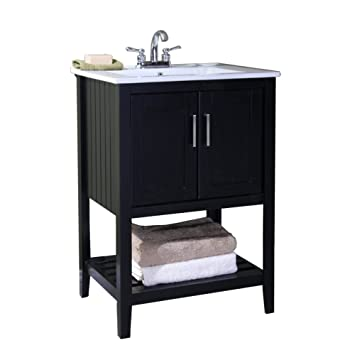 Awesome Legion Furniture WLF6020 E 24u0026quot; Single Sink Bathroom Vanity With  Ceramic Top, Espresso