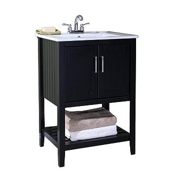 Legion Furniture Wlf6020 E 24 Quot Single Sink Bathroom Vanity With Ceramic Top Espresso