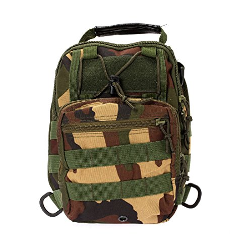 SODIAL strap Backpacks Camouflage bag shoulder Camping Single Shoulder backpack Hiking Digital ACU bicycle Forest bag strap R rt4fwqr
