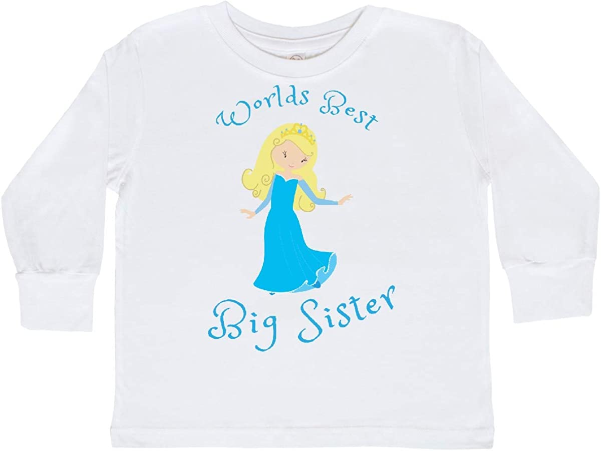 inktastic Worlds Best Sister Toddler Long Sleeve T-Shirt