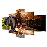 GUAITAI 5 Pieces Wine Cellar Poster Canvas Wall Paintings Home Decoration Arts Pitures (Wine Cellar / Have No Frame, 11x15inchx2+11x23inchx2+11x31inchx1)