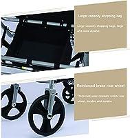 DNNAL Andador Multifunción Andador de Aluminio Plegable y Descanso ...