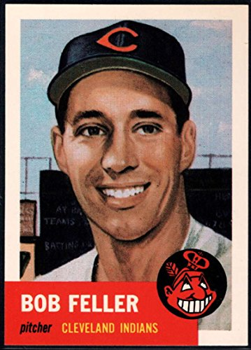 1991 Topps Archives 1953 Baseball #54 Bob Feller Cleveland Indians Official MLB Trading Card (Reprint of