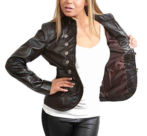 larga Chaqueta Negro Fashion A1 Goods Mujer Manga qq6T1Cw