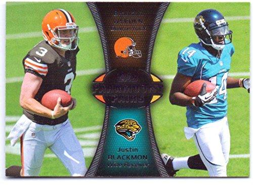 Brandon Weeden, Justin Blackmon 2012 Topps Paramount Pairs #PA-WBL - Cleveland Browns, Jacksonville Jaguars, - Brown Oklahoma Justin